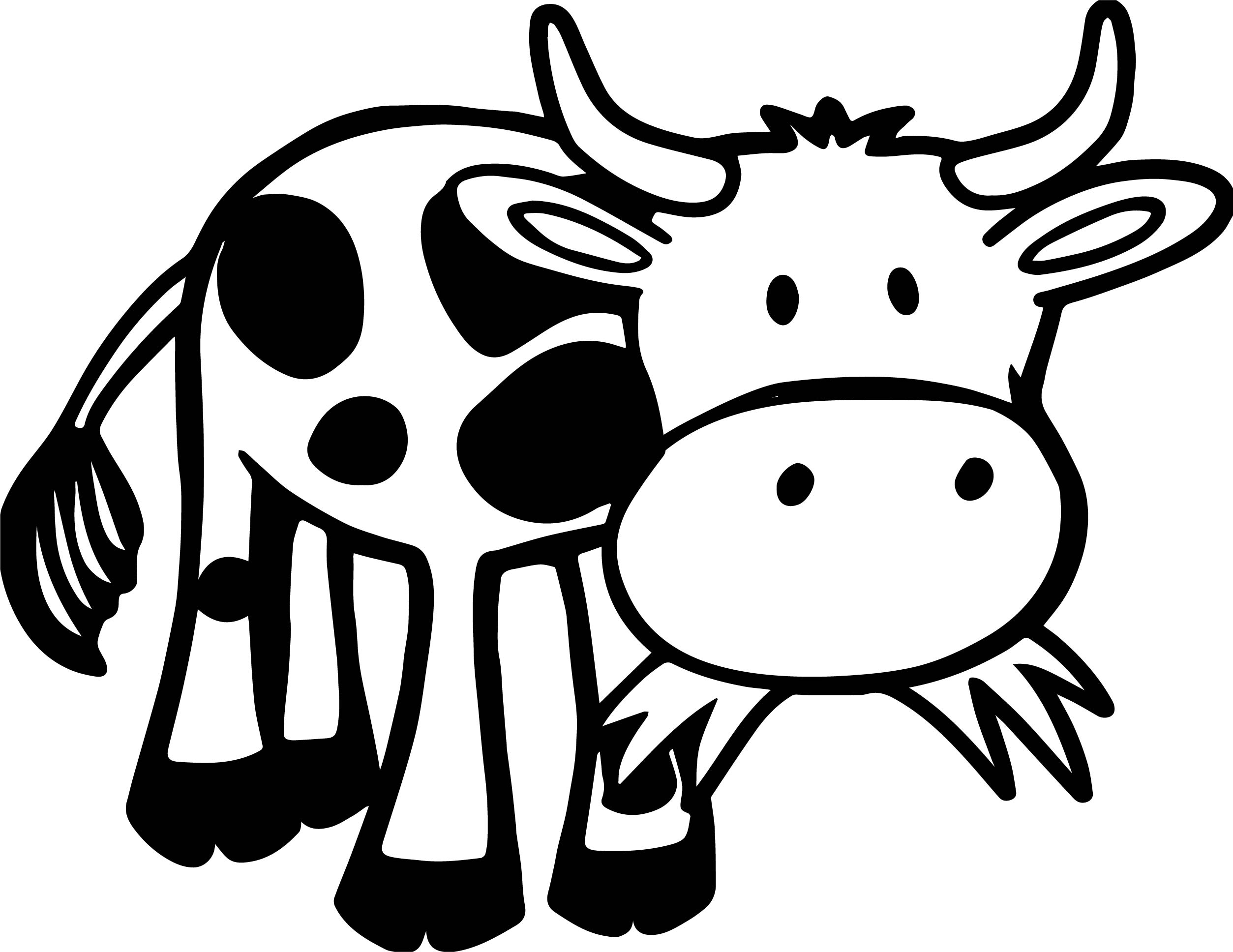 2507x1936 animal animal coloring pages for kids cow outline images poster
