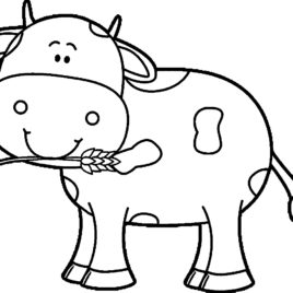 268x268 Coloring Page Cow Free Coloring Pages Of A Cow Outline Posted