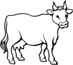 236x212 Cow Pattern. Use The Printable Outline For Crafts, Creating