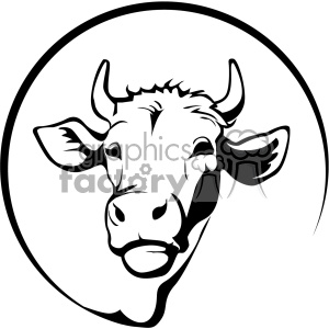 300x300 Royalty Free Farming Dairy Cow Svg Cut File Vector Outline 402612