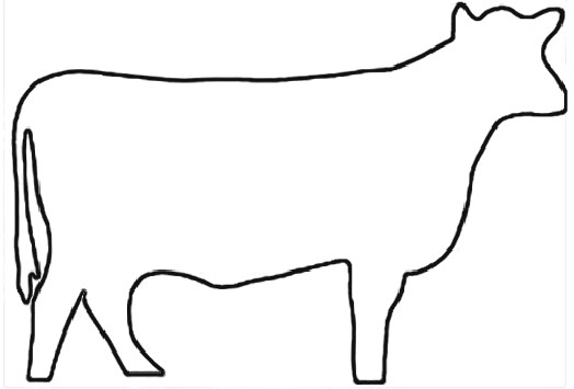 graphic regarding Printable Cow Pattern identify Define Of A Cow Totally free obtain easiest Define Of A Cow upon