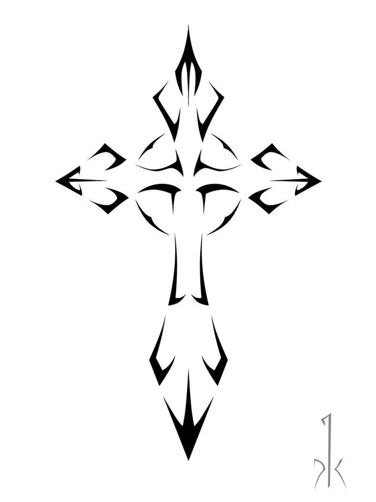 Outline Of A Cross
