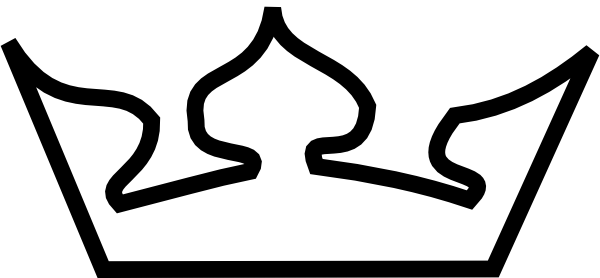 600x278 Crown Outline Clip Art