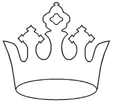236x204 Crown Pattern. Use The Printable Outline For Crafts, Creating