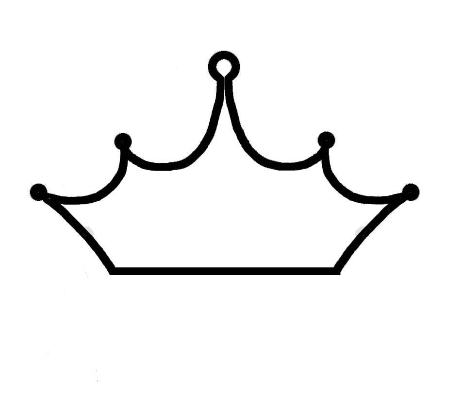 956x864 Drawn Crown Outline