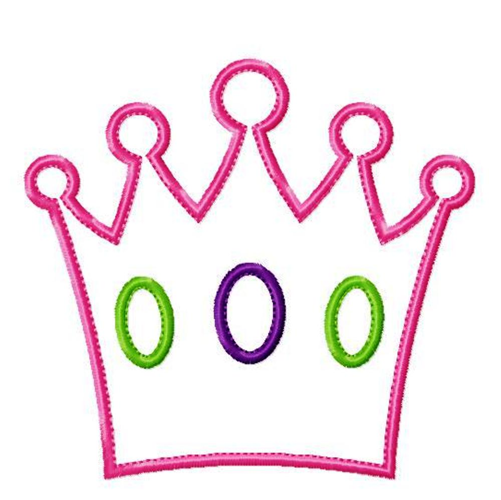 1000x998 Outline Pink Queen Crown Clipart