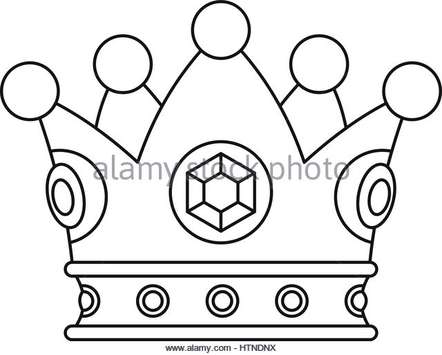 640x514 Queen Crown Icon Outline Illustration Stock Photos Amp Queen Crown