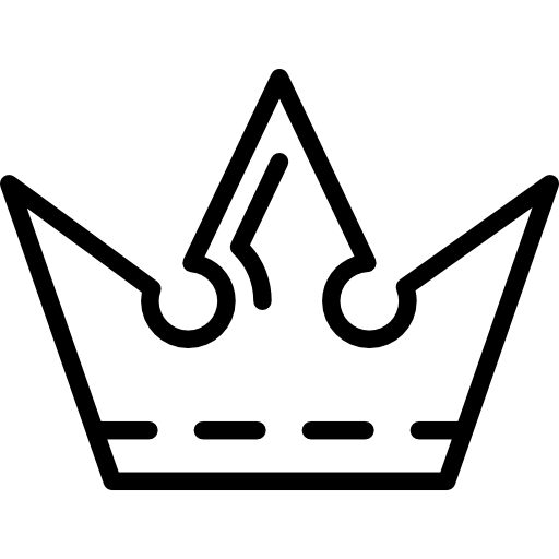 512x512 Royal Crown Outline Design