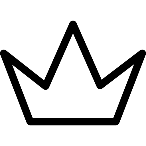 512x512 Simple Crown Outline