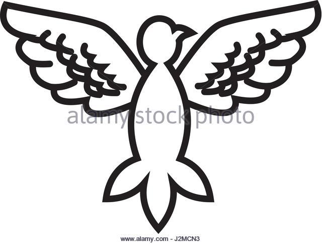 640x484 Dove Bird Outline Vector Symbol Stock Photos Amp Dove Bird Outline