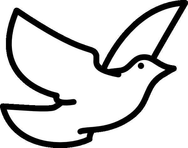 600x473 Dove Outline Clip Art