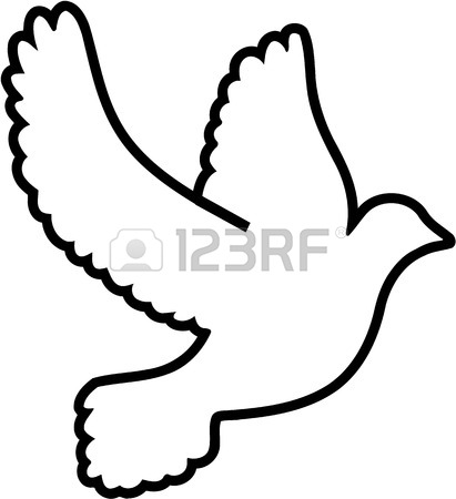411x450 Dove Swarm Doves Flying Royalty Free Cliparts, Vectors, And Stock