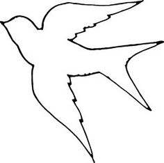 236x234 Dove Pattern. Use The Printable Outline For Crafts, Creating