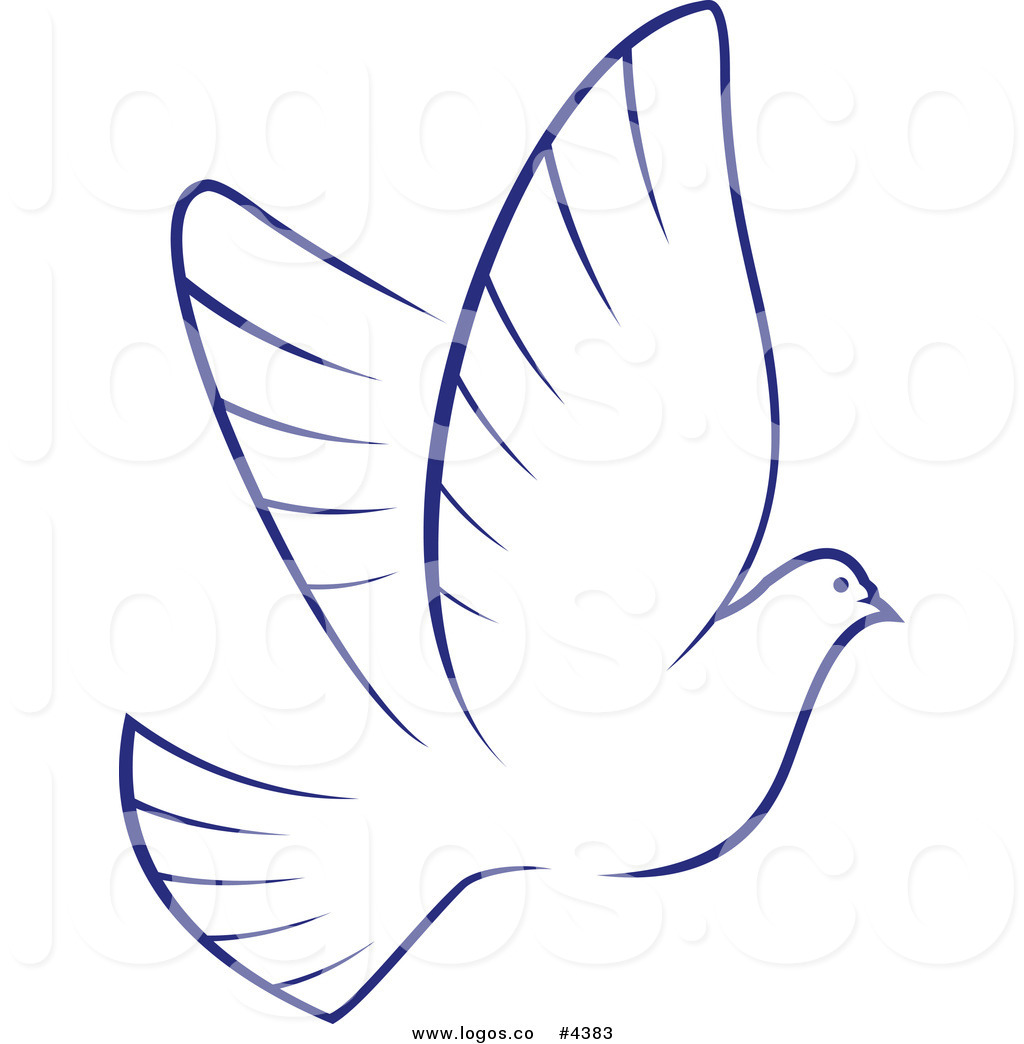 1024x1044 Royalty Free Dove With Blue Outline Logo By Vector Tradition Sm