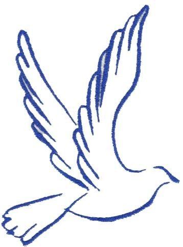 358x482 Dove Clipart Outline
