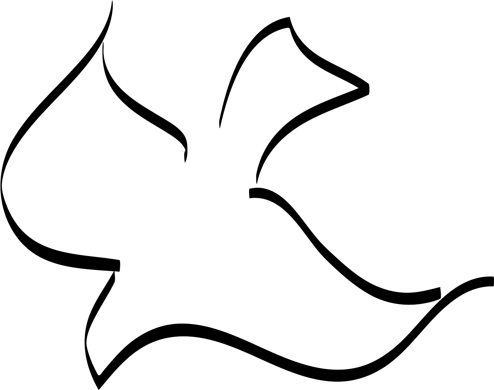 1600x1264 Best Dove Outline