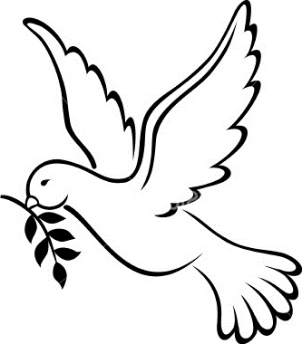 333x380 Best Photos Of Peace Dove Outline