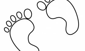 280x168 Dinosaur Footprint Outline Clipart Panda