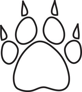 268x300 Bear Footprint Clipart