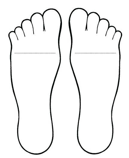 431x528 Printable Footprints Footprint Outline Printable Printable Animal