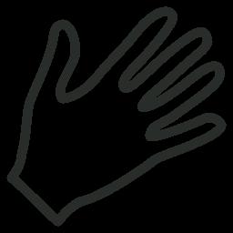 256x256 Hand Icon Outline Iconset Designcontest