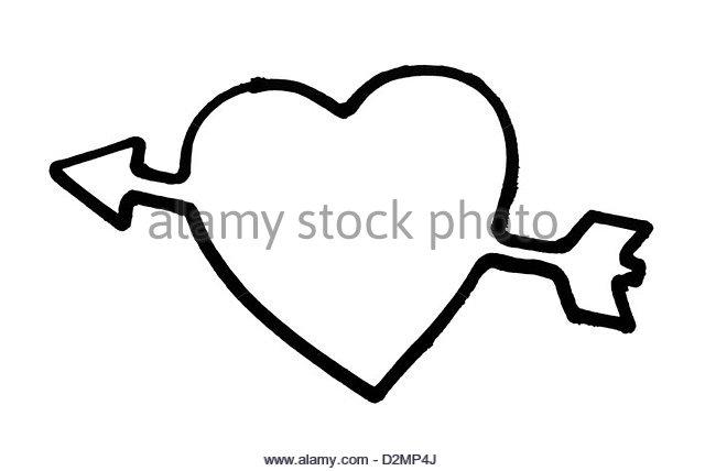 640x428 Heart Arrow Love Symbol Outline Stock Photos Amp Heart Arrow Love