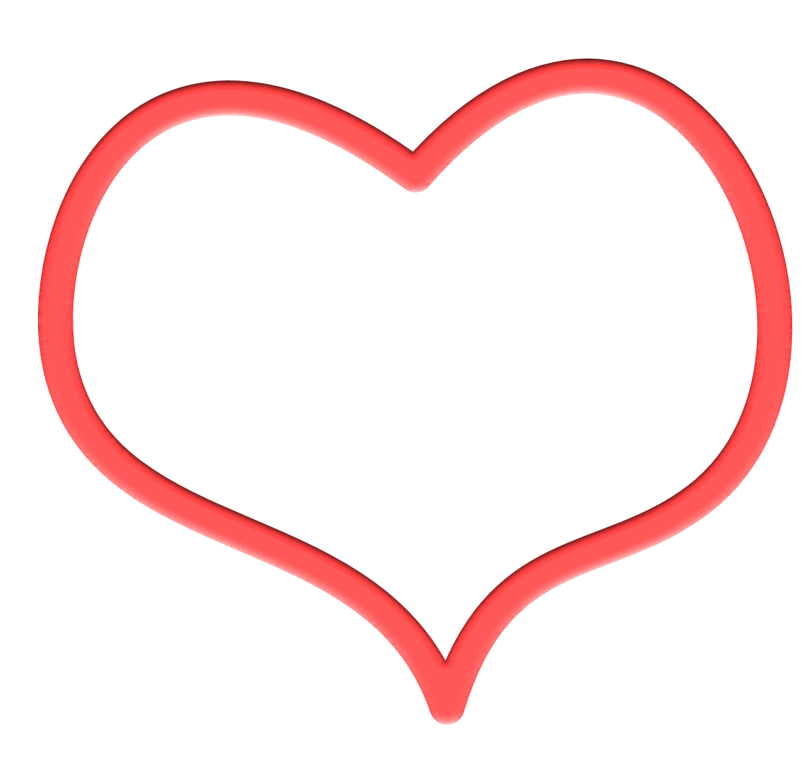 1150x1100 Heart Outline Outline Of A Heart Symbol Clipart