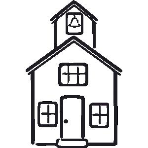 300x300 School House Schoolhouse Outline Clipart