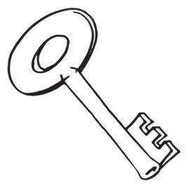 268x268 Best Photos Of Key Shape Template Key Outline Clip Art, Free Key