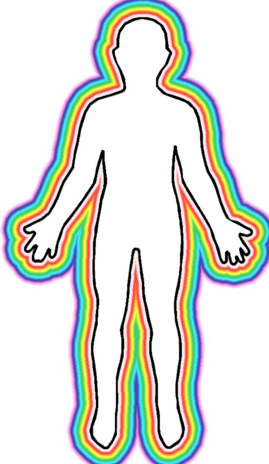 550x950 Human Body Outline Printable