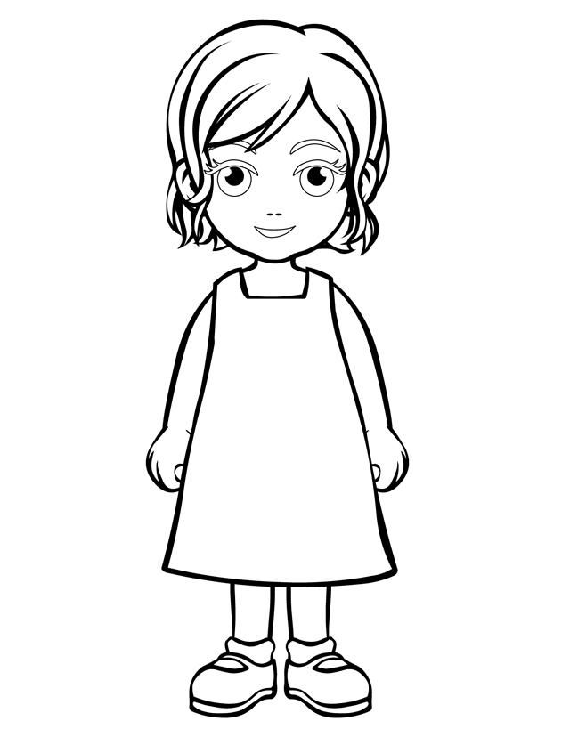 640x828 Outline Of A Person Coloring Page