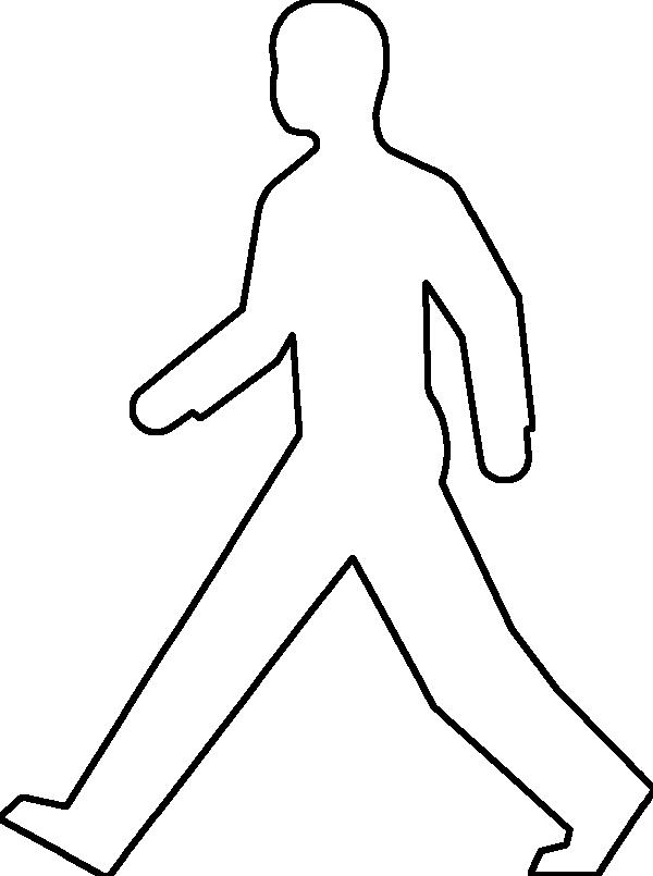 600x805 Outline Of Person Coloring Page