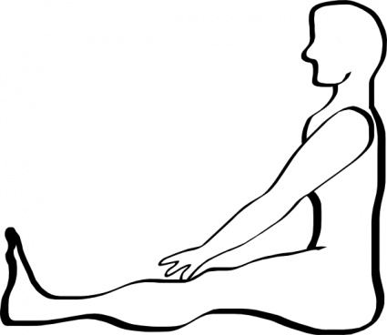 425x368 Outline People Yoga Person Human Lineart Sit Vector, Free Vector