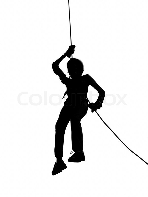 600x800 Outline Of Person Abseiling Stock Photo Colourbox