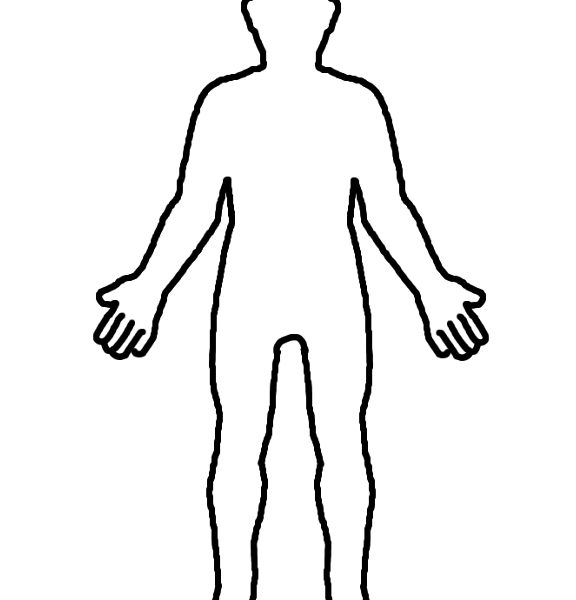 576x600 Outline Of A Person Blank Person Template Free Download Clip Art
