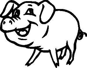 300x234 Free Pig Clip Art That Really Flies
