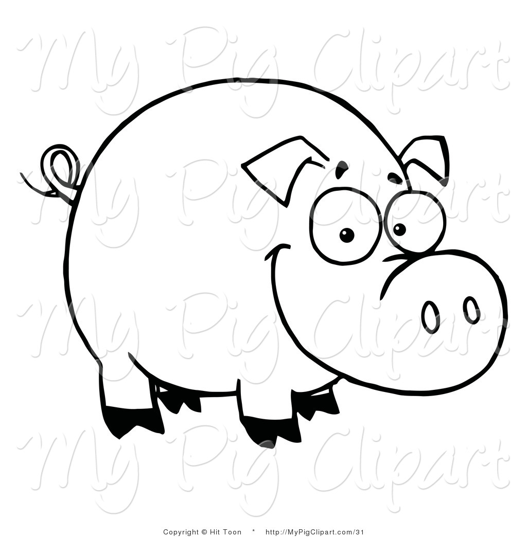 1024x1044 Royalty Free Outline Stock Pig Designs