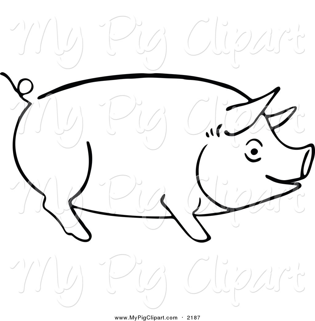 1024x1044 Swine Clipart Of A Sketched Pig Outline By Prawny Vintage