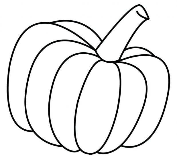 618x556 Coloring Exciting Outline Of Pumpkin. Pumpkin Templates Stencil