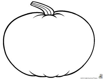 350x270 Outline Of A Pumpkin Clipart