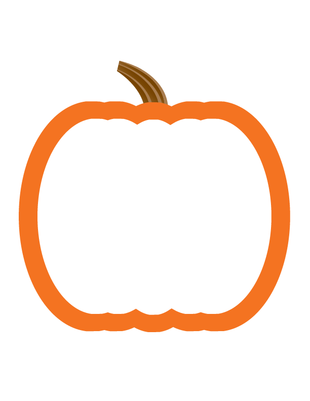 612x792 Pumpkin Outlines