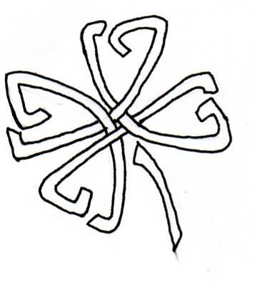 Outline Of A Shamrock
