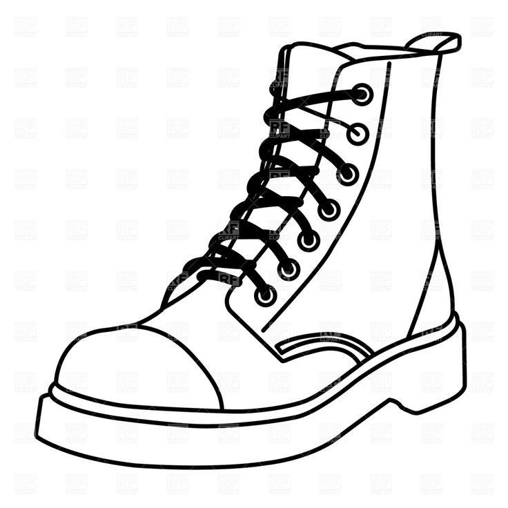 Outline Of A Shoe