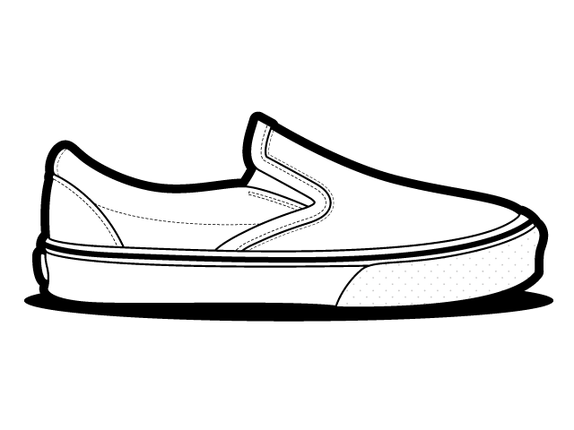640x480 Gym Shoes Clipart Vans Shoe