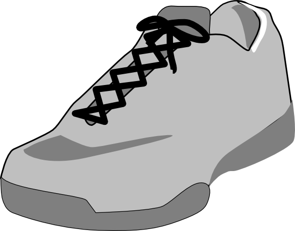 600x470 Shoe Outline White Clip Art