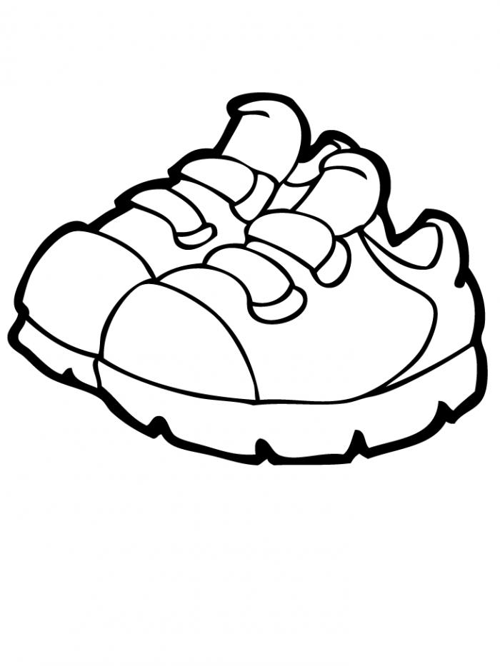 700x933 Shoe Clipart Coloring