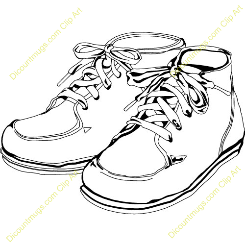 500x500 Shoe Clipart Shoe Outline