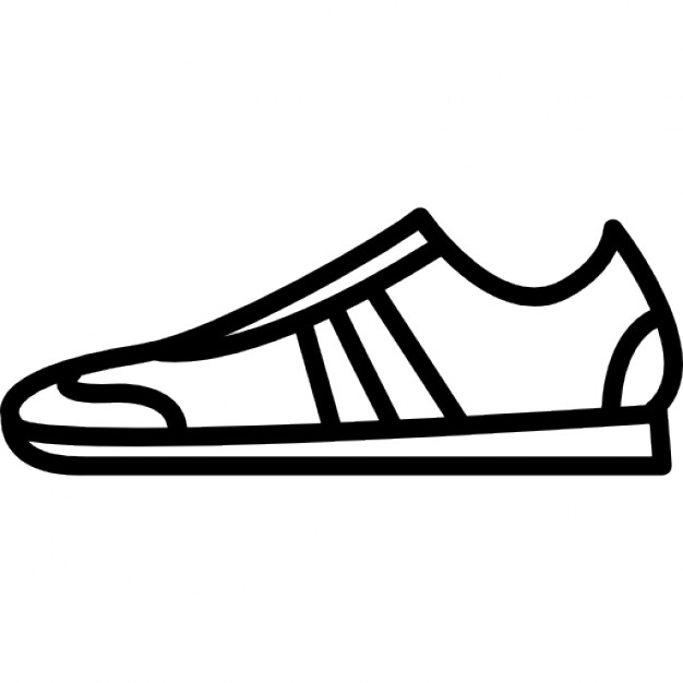 626x626 Sportive Shoe Outline From Side View Icons Free Download