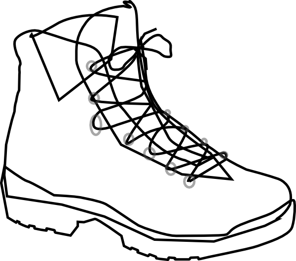600x531 Boot Outline Clip Art