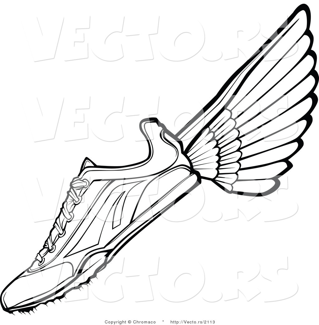 1024x1044 Vector Of A Running Shoe With Wings